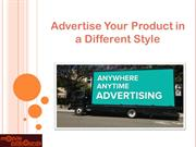 Advertise Your Product in a Different Style