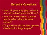 New Chinese History PP