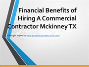 Financial Benefits of Hiring A Commercial Contractor Mckinney TX