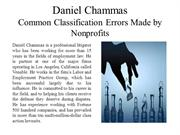 Daniel Chammas - Common Classification Errors Made by Nonprofits
