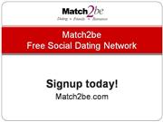 Match2be Free Online Dating