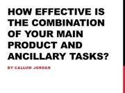 How effective is the combination of your main product and ancillaries