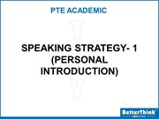 Tuesday PTE Speaking Strategy (Intro - 1) - 1 MW