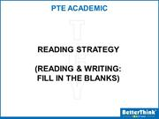 Thursday (Fill in the Blanks Reading & Writing-1) - 2 MW