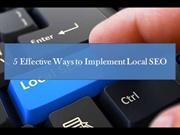 5 Strategies for Implementing Local SEO