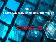 5 Easy Way Request to Test Automation in 2016