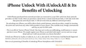 iPhone Unlock With iUnlockAll & Its Benefits of Unlocking