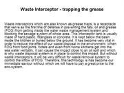 Waste Interceptor Trapping The Grease