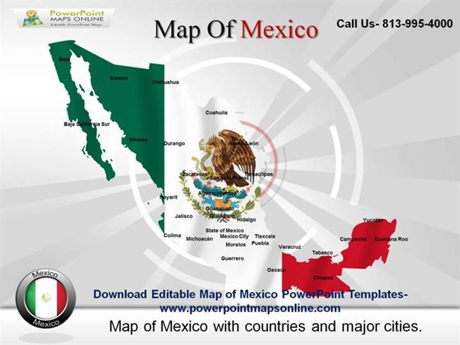 Download Editable Map of Mexico Powerpoint Tempaltes ...