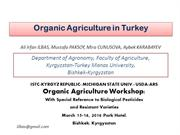 Organic Agriculture in Turkey