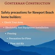 Safety Precautions For Newport Beach Home Builders