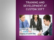 Training and Development at Custom Soft