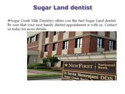 Sugar Land dentist
