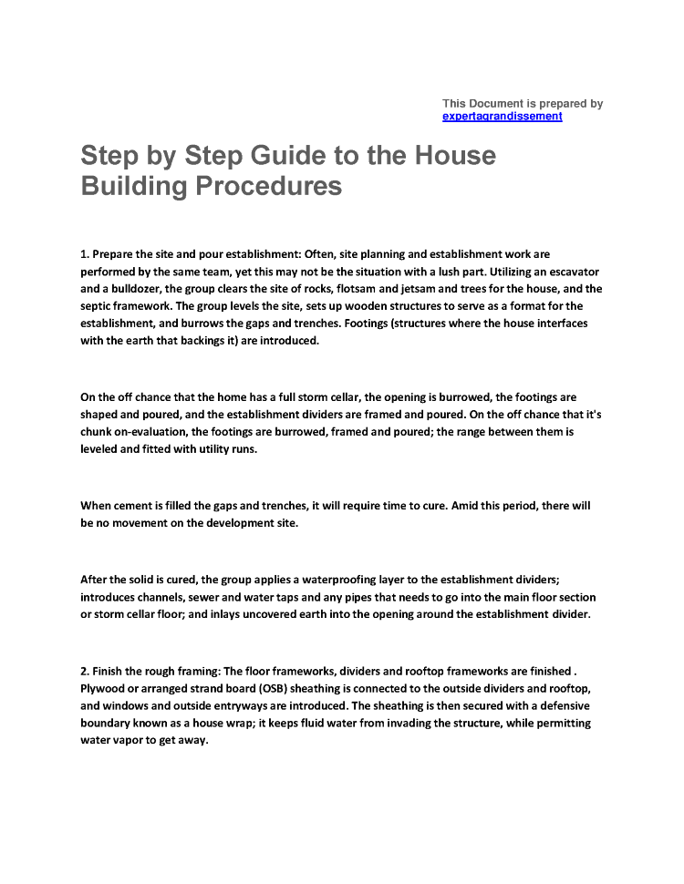 Step by step home building process authorstream for Step by step in building a house