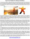 Stay Fit and Healthy for Lifelong with QiGong