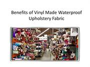 Waterproof Upholstery Fabric
