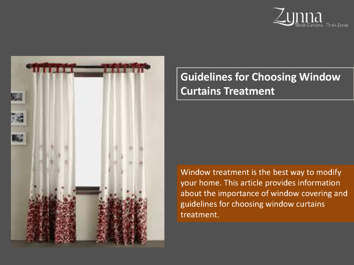 guidelines for choosing window curtains treatment authorstream