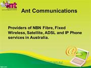 NBN Fibre Plan Comparison | 1300 268 266 | Ant Communications