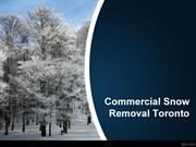 Commercial Snow Removal Toronto