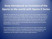 Sony Introduced an Evolution of the Xperia to the world with Xperia X