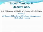 Labour Turnover & Stability Index_GCM