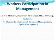 Workers Participation in Management_GCM