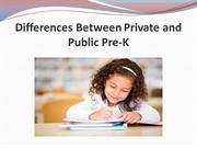Differences Between Private and Public Pre-K