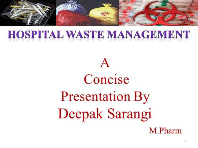 Hospital Waste Management Ppt Authorstream