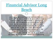 Financial Advisor Long Beach