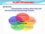 plant physiology lecture 3