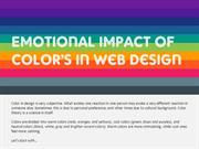 Emotional Impact Of Color's In Web Design