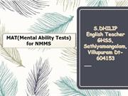 TALENT EXAM ANALATICAL AND LOGICAL REASONING