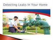 Detecting Leaks In Your Home