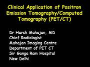 clinical applications of PET CT