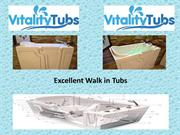 Reasonable walk in tubs at Vitality Tubs