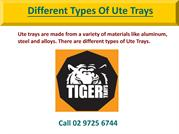 Different Types of Ute Trays