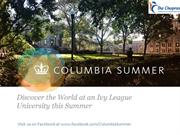 Webinar on Summer Programmes in Columbia University – The Chopras