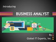 Enhance your career in Business Analyst @ Global IT Experts, Inc