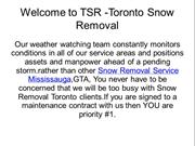 Snow Removal Service GTA