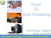 types of Data processing