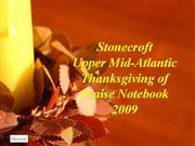 Thanksgiving of Praise Notebook