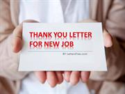 Sample Thank you Letter for New Job