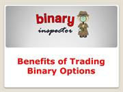 Benefits of Trading Binary Options