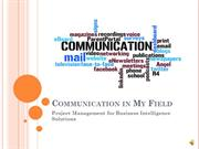 Communication in My Field