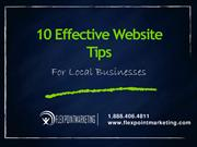 Effective Website Tips For Local Businesses