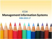 Management Information Systems Introduction MGU MBA