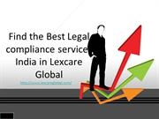 Find the Best Legal compliance services india in Lexcare Global