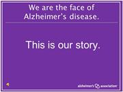 Face of Alzheimer's Slideshow with Music