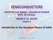 semiconductor Ch.3 Introduction to the Quantum Theory of Solids