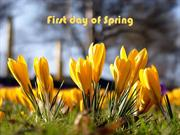 1-Mar 20- First Day Of SPRING-Crocus-Fur Elise- Beethoven-Michael Luca